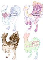 Praying Monstrich Auction and Free Raffle [CLOSED] by InkxInk