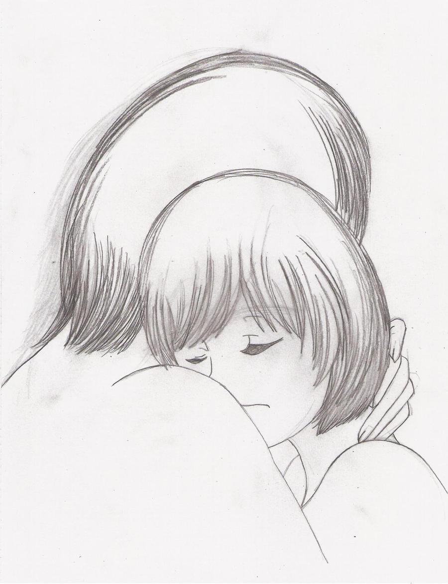 Hug sketch by scarletnalickhug sketches