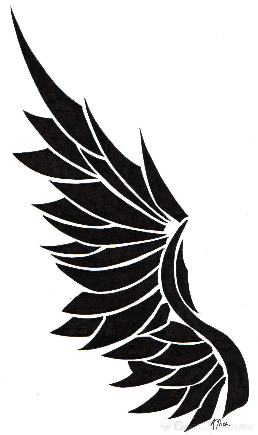 tatoo angel wing by generic username designs interfaces tattoo