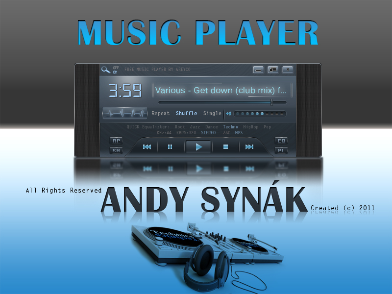 Crystal Blue Music Player