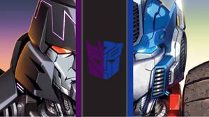 Megamus | Megatron and Optimus | Desktop Wallpaper