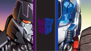 Megamus   Megatron and Optimus   Desktop Wallpaper by SparkShredder