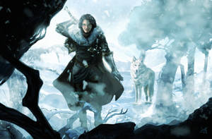 Jon Snow, Ghost and Beyond by lebllues