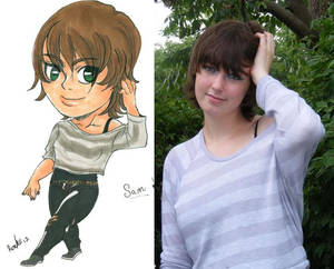 Photo vs Chibi--My Friend