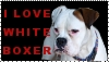 I love white boxer stamp by schnuffibossi1