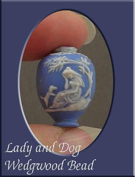 Lady and Dog Wedgwood Bead