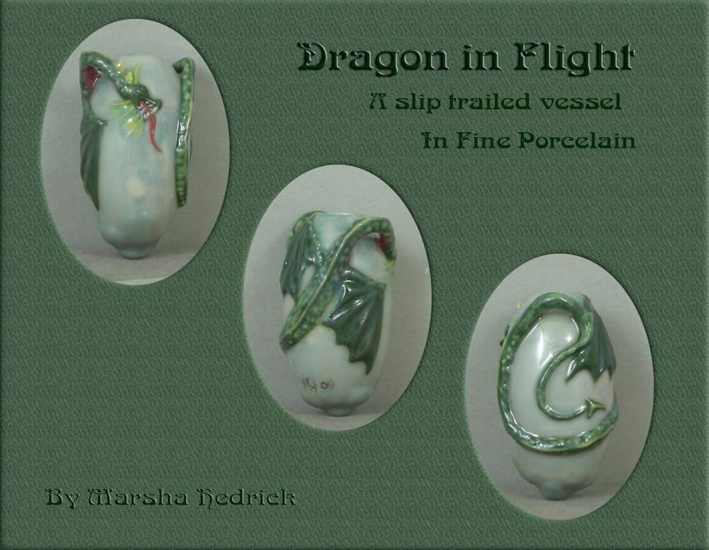 Dragon in Flight Vessel by nativeart