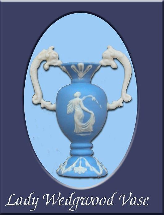 Wedgwood Lady - Miniature Vase by nativeart