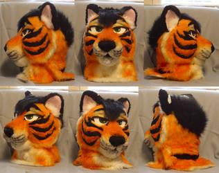 Blake Tiger Fursuit Head by LobitaWorks