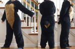 Black n Tan Bodysuit - SOLD
