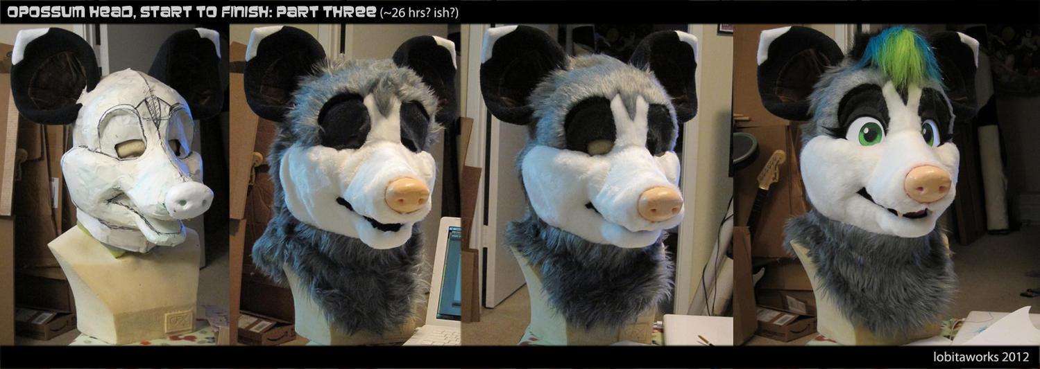 Opossum WIP 3 by LobitaWorks