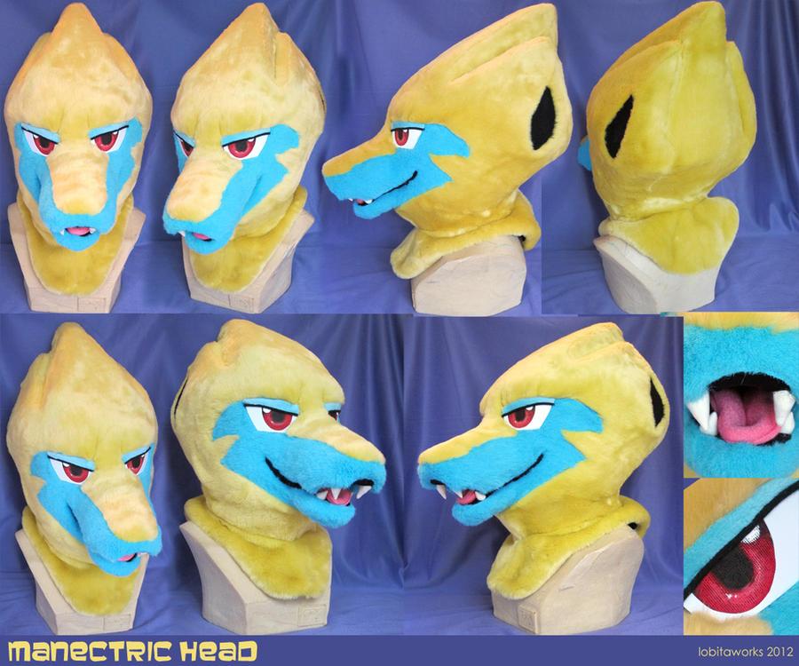 Manectric Fursuit Head by LobitaWorks