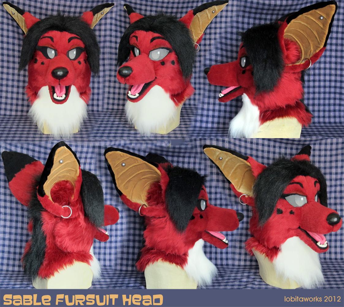 Sable Fursuit Head by LobitaWorks