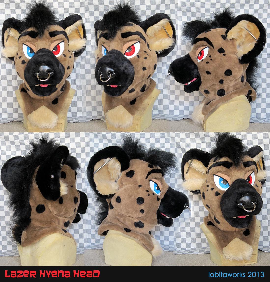 Lazer Hyena Head by LobitaWorks