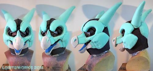 Sylkis Dragon Head WIP by LobitaWorks