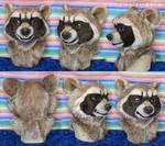 Rocket Raccoon Fursuit Head by LobitaWorks