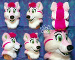 Rosie the Wolfdog Fursuit Head