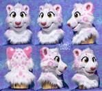 Rosie Snow Leopard Fursuit Head