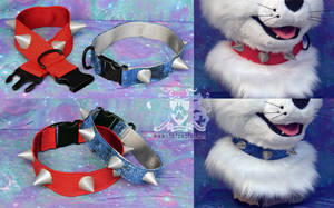 Fursuit Spiked Collars by LobitaWorks