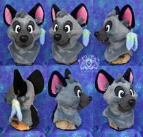 Kubo Hyena Fursuit Head by LobitaWorks