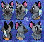 Kubo Hyena Fursuit Head