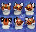 Plush Tiger Head by LobitaWorks
