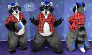 Blueberry Raccoon Fursuit 2