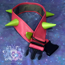 Pink and Green Spike Collar