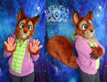 Red Squirrel Partial Suit by LobitoWorks