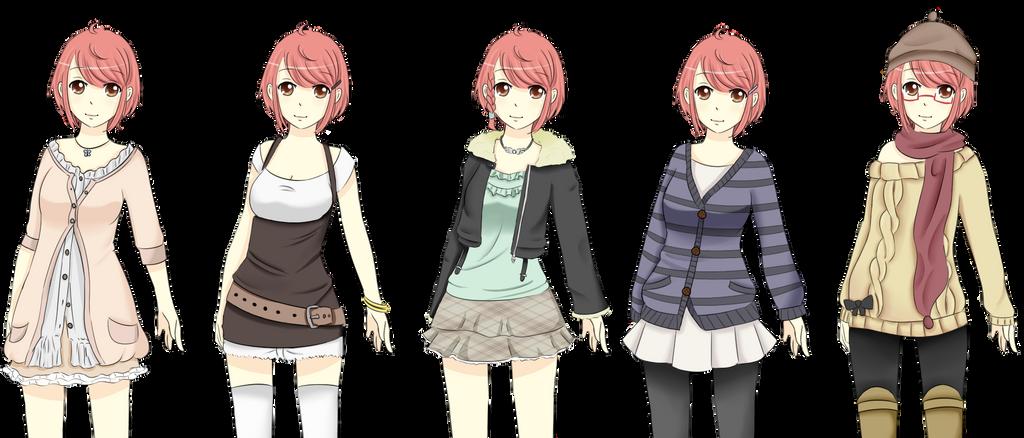 TH Yuuhi Outfits By Juuri No Sekai On DeviantArt