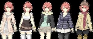 TH: Yuuhi outfits by Juuri-No-Sekai