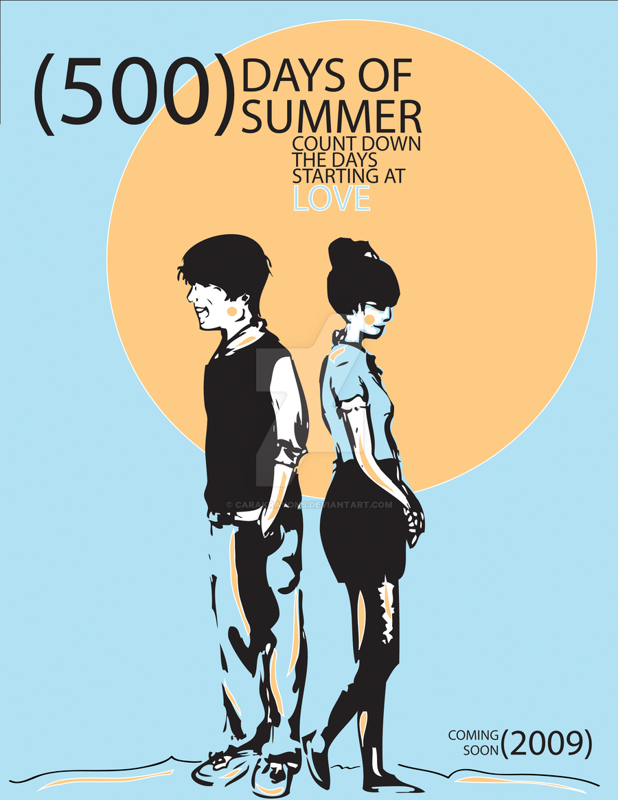 500 days of summer poster by carakrayons on deviantart for Architecture drawing 500 days of summer