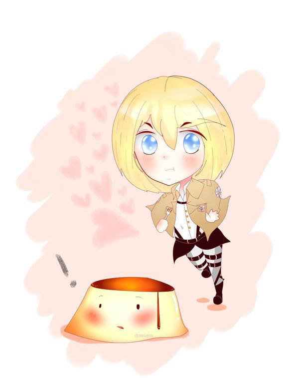 Attack On Flan Pudding by donnita-sama