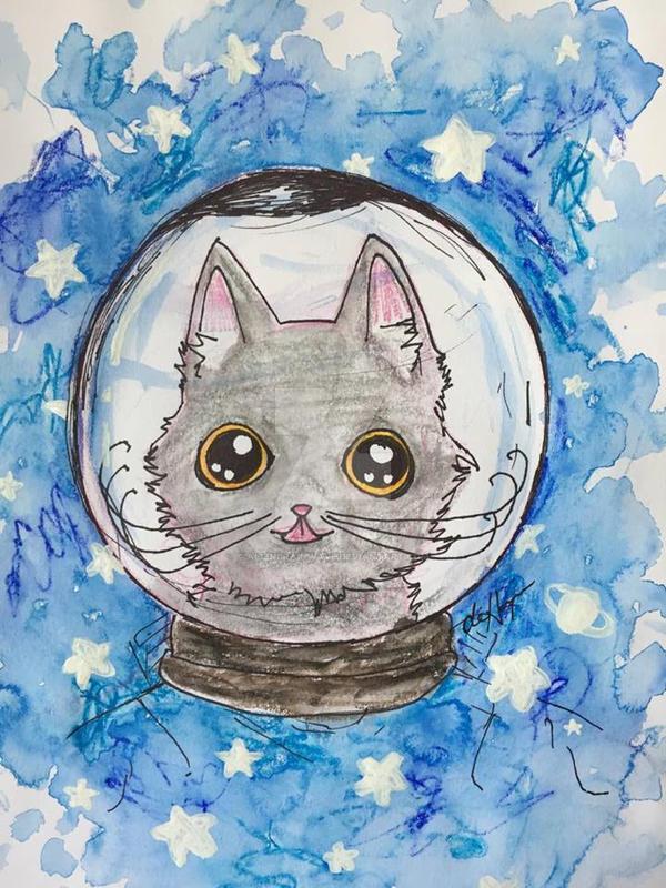 Astronaut Arya by alienbrainwave