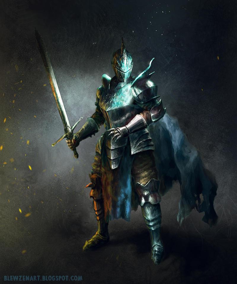 random knight by blewzen