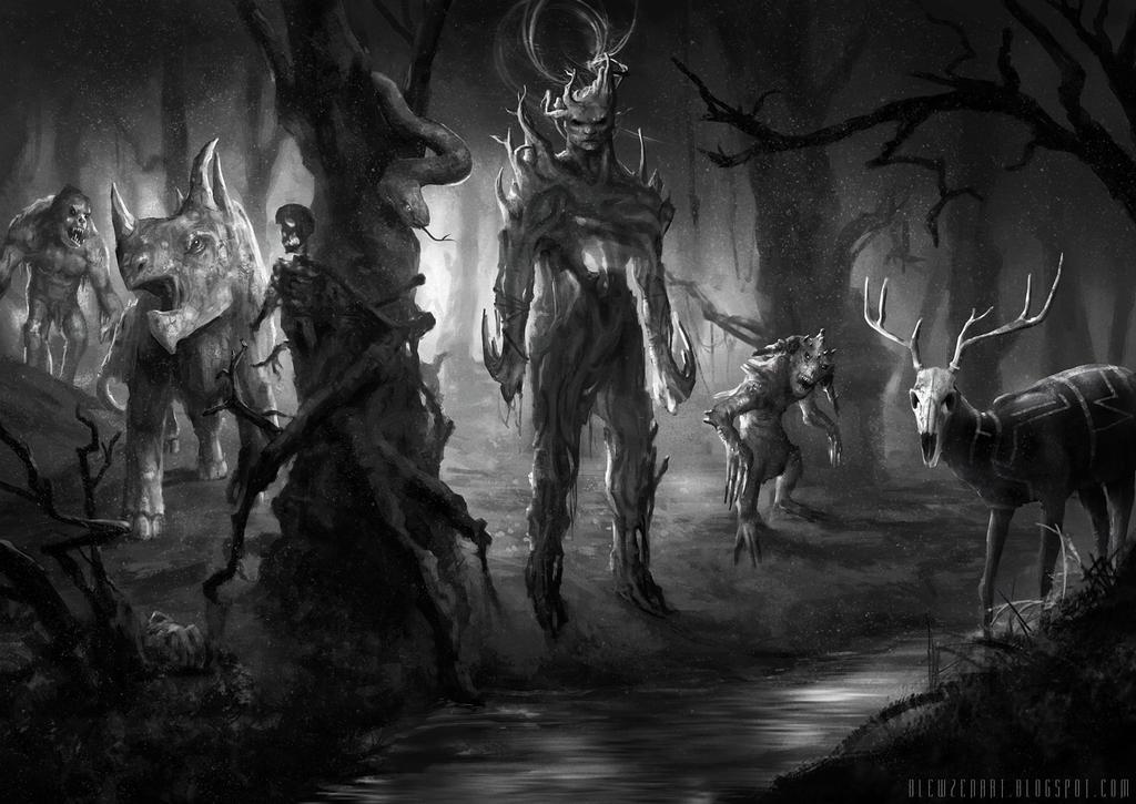 Hostile forest by blewzen