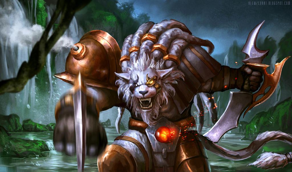 League of Legends: Rengar fanart by blewzen
