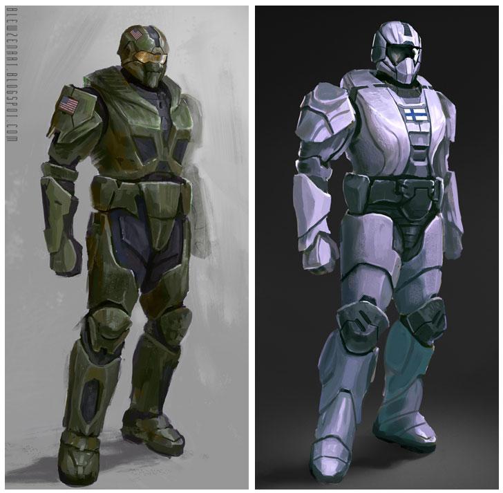 Soldier designs by blewzen