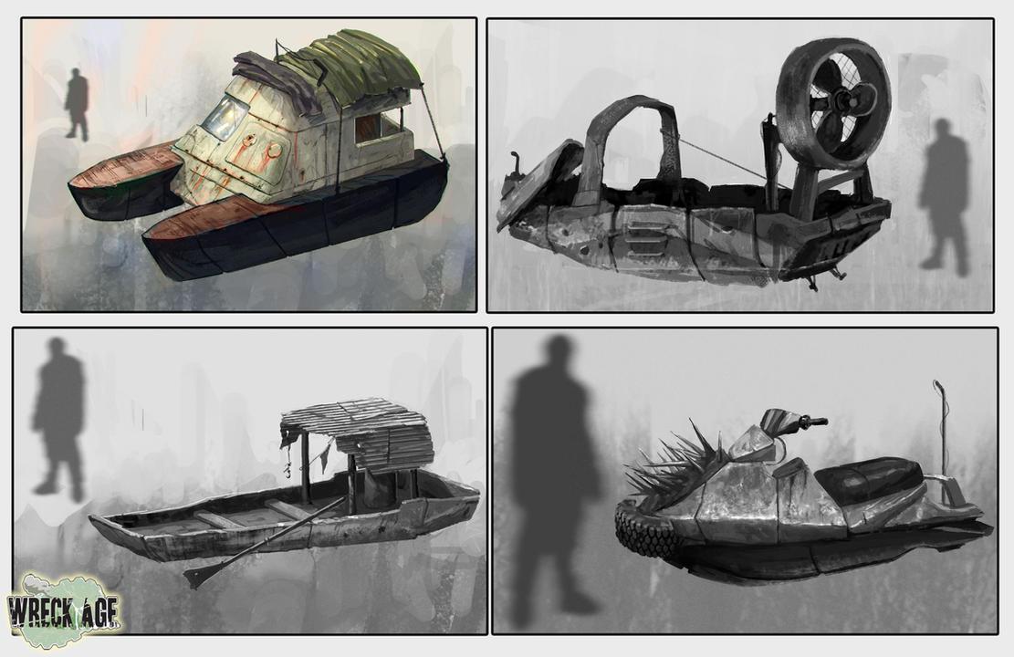 ShangriLA vehicles concept art by blewzen