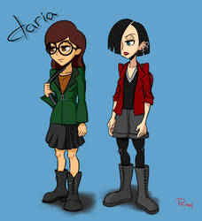 Daria and Jane by ViewtifulJoeX