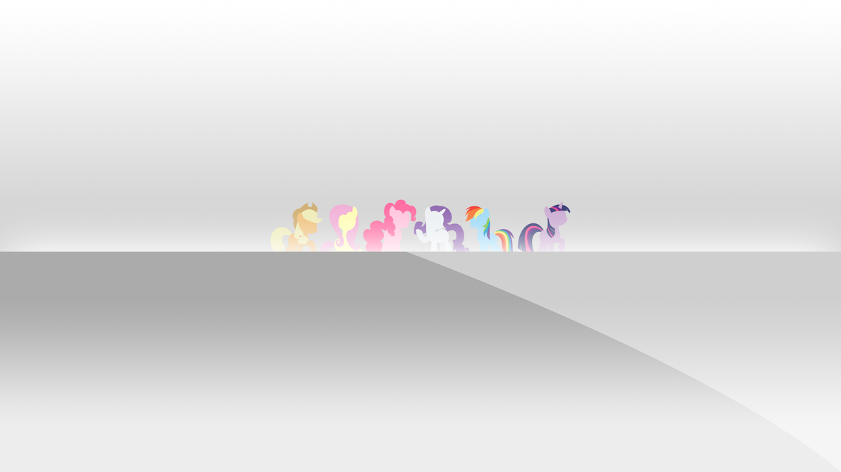 Mane 6 Minimal Wallpaper by LeviDragon