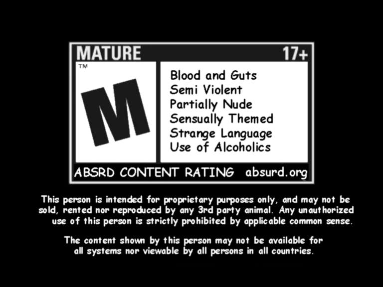 Absurd Warning Label by 1DeViLiShDuDe