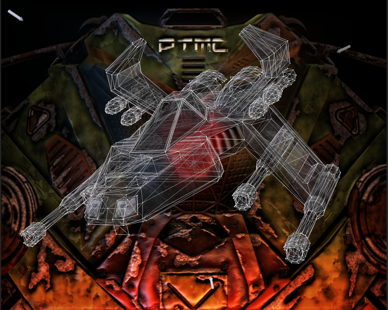 Descent Pyro-GX Transparent Wireframe by 1DeViLiShDuDe