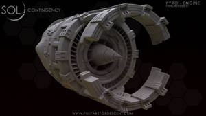 3D Pyro - Engine Hipoly Back - Posted