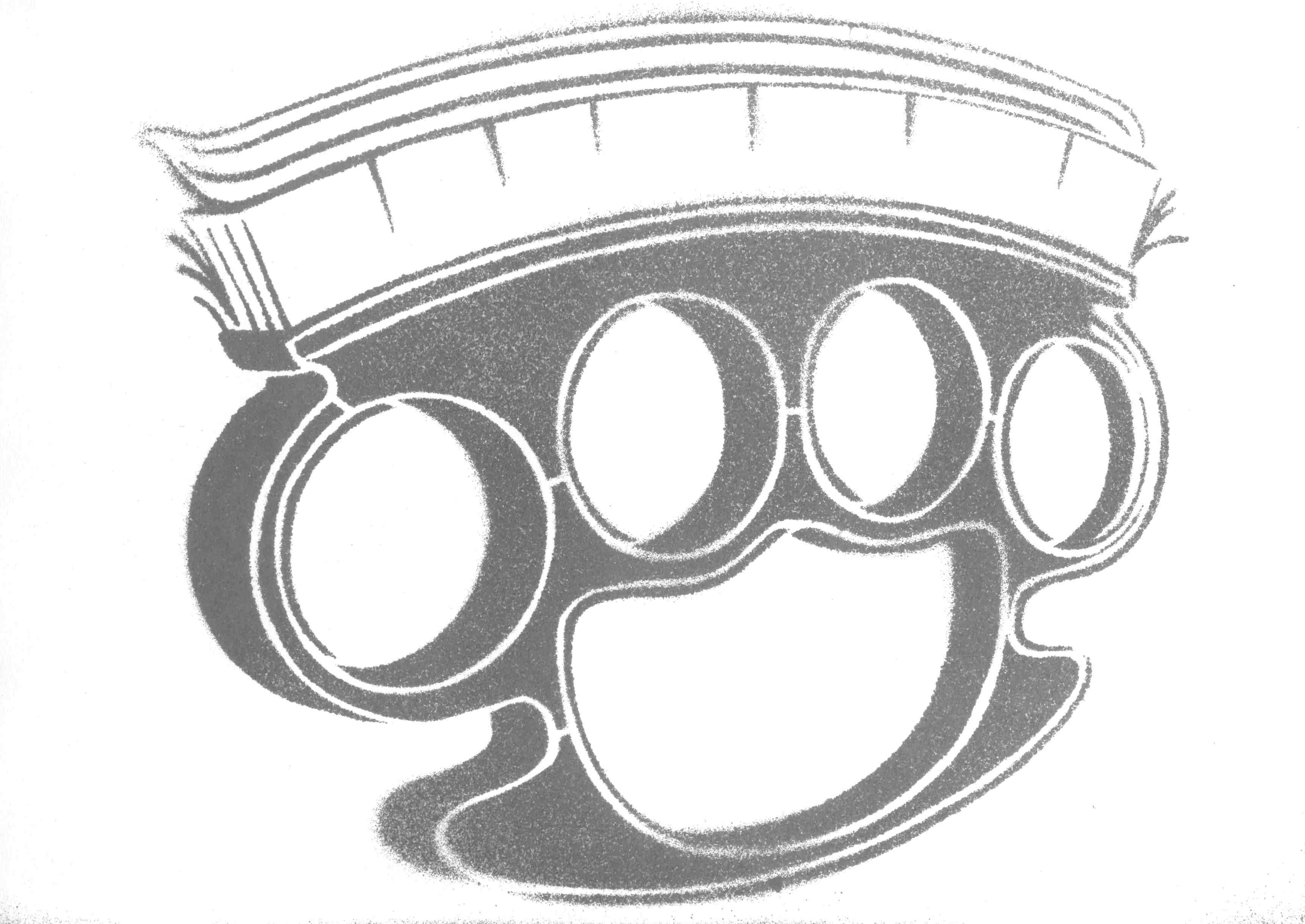 brass knuckles template - fresh brass knuckles by shvepseg on deviantart