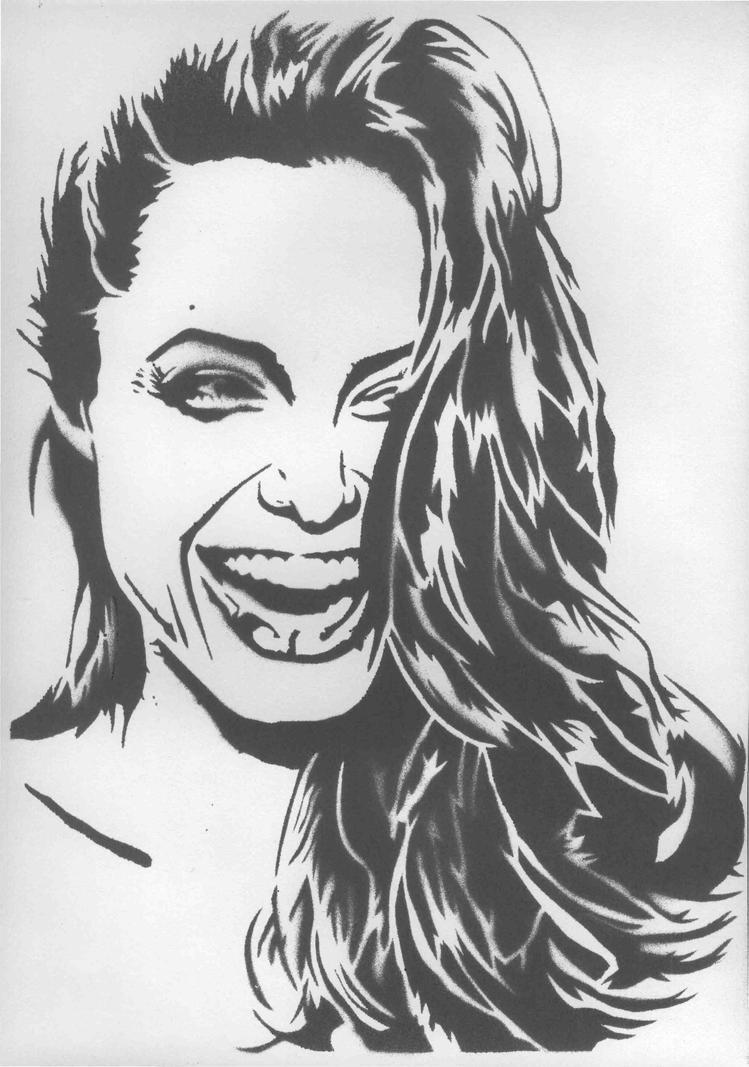 Pop Art Girl Stencil