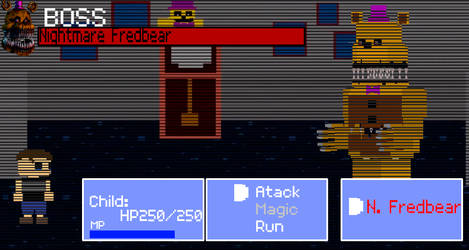 FNaF RPG: Boss Nightmare Fredbear by ScatmanGu