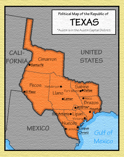Texas Republic Map
