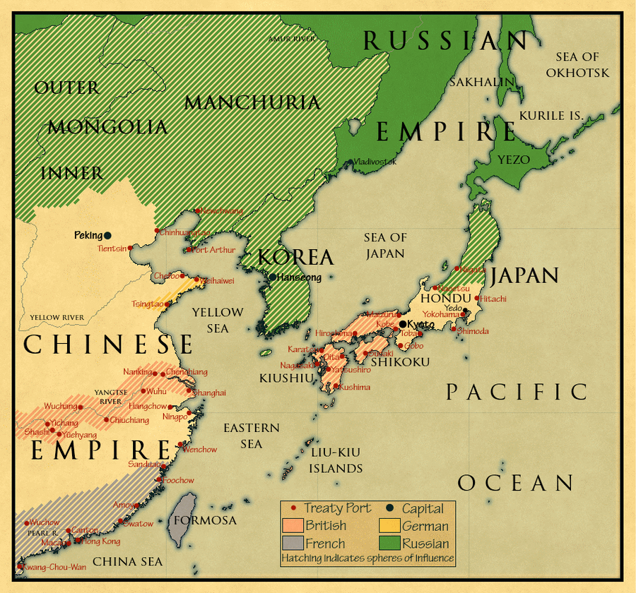East Asia C With No Meiji By Rubberducky On DeviantArt - Japan map 1900