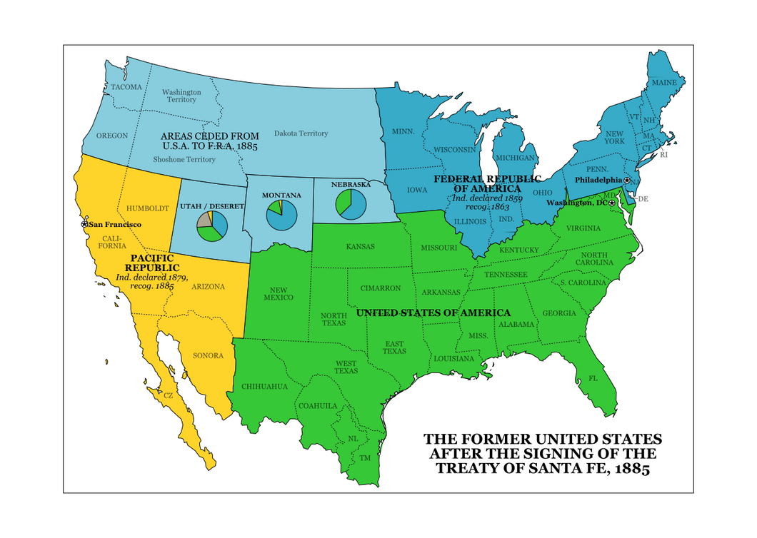 Northern Secession By Rubberducky On DeviantArt - Secession map of us